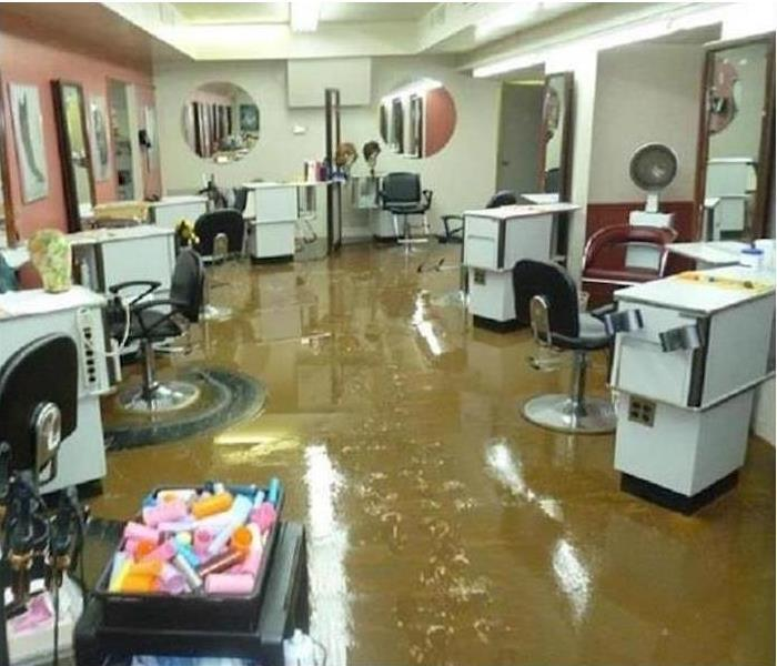Flooding in a Lenoir Beauty Salon Before