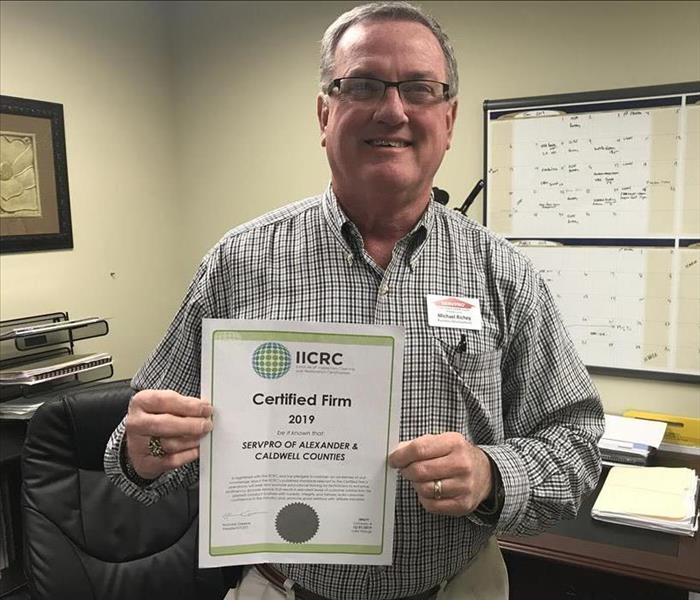 SERVPRO of Alexander & Caldwell Counties is IICRC Certified